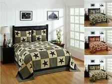 Better Trends Star Collection 100% Cotton Patchwork Bedspread & Sham Set