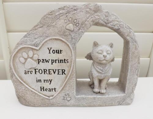 MEMORIAL PLAQUE for CAT NEW POLY RESIN STONE EFFECT with words