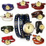Womens Fashion Retro Wrist Watch Ladies Casual Genuine Leather Birthday Gift