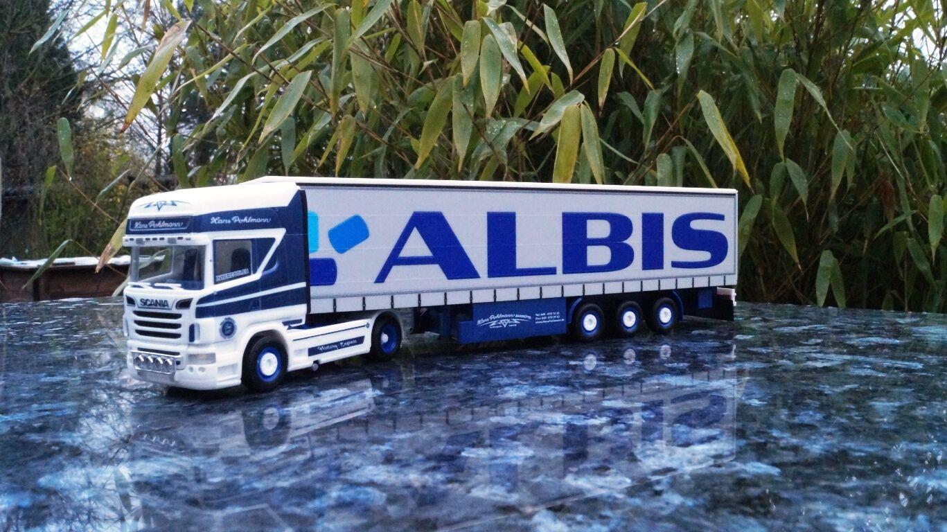 Herpa Scania R TL rideaux planifier-Semi-remorque  pohlmann Albis  305648