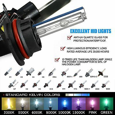 3000k 5000k 6000k Headlight Foglight  kit H1 H4 H6 H7 H11 H13 9006