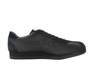 ASICS-Tiger-Corsair-Mens-Black-Black-Sneakers-Trainers-Shoes-D7J4L-9090-Size