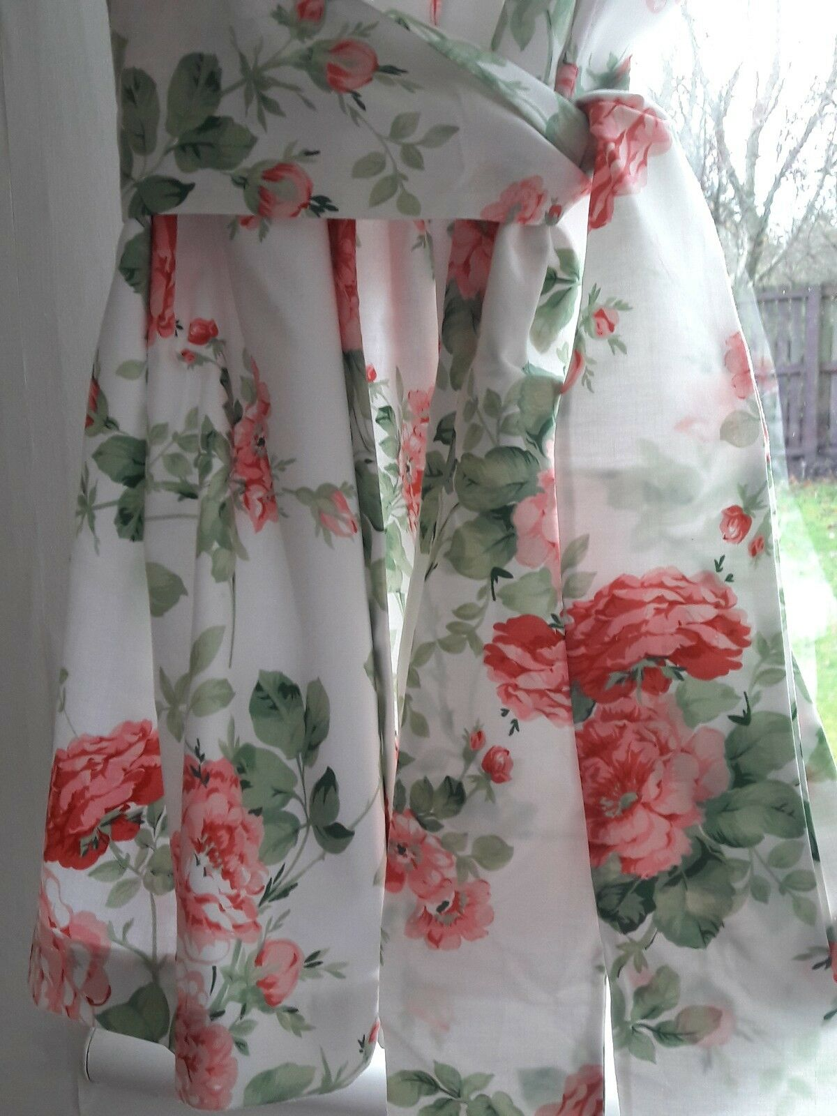 Beautiful Antique Rosa Vintage Style Bespoke Bespoke Bespoke Lined Curtains 54 inch drop 9aa16a