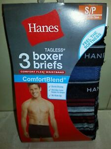 "Men's Clothing Hanes Xl Tagless Boxer Briefs Comfort Blend 40-42"" Usa Seller Fast Ship 100% Quality 3 Pack"