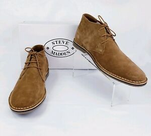 75064fc4dd1 Details about Steve Madden Hacksaw Chukka Suede Leather Boots Tan Brown  Men's Size 13