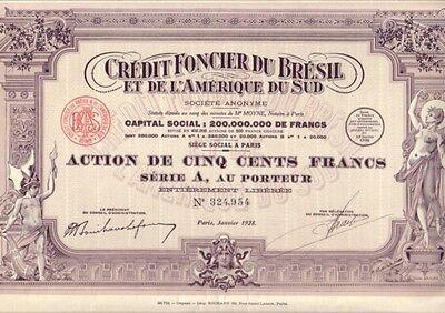 Credit Foncier du Bresil et de L'Amerique de Sud  928 Paris uncancelled