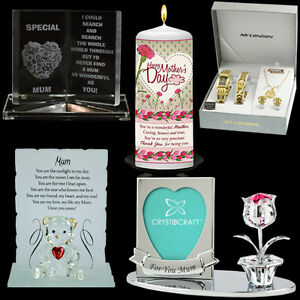 MOTHERS-DAY-GIFT-PRESENT-PLAQUE-CRYSTAL-NECKLACE-SET-CANDLE-PHOTO-FRAME-MUG-BOX
