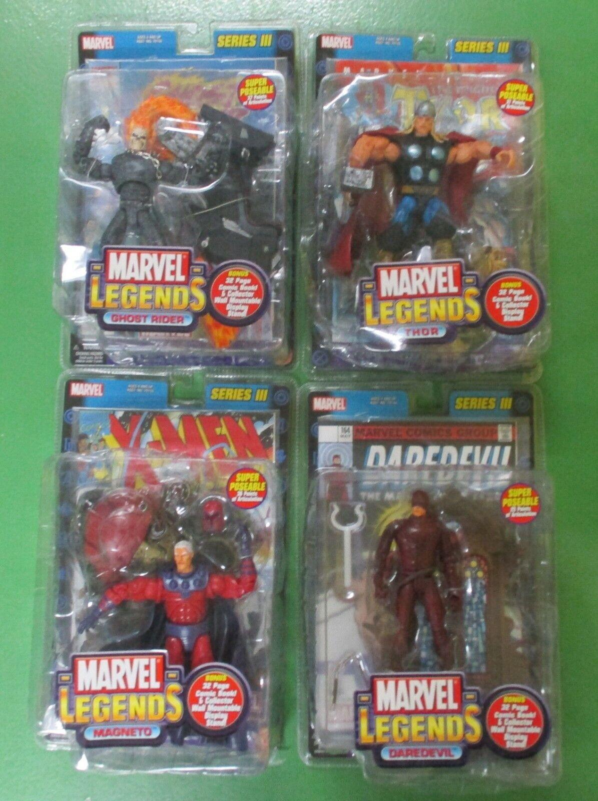 Marvel Leyendas Juguetebiz-Lote de 4-Thor, Ghost Rider, Magneto, Darojoevil