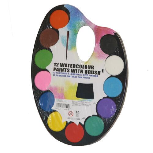 Artista Arte Pintura Pintura Paleta Paleta Set con cepillo para niños niños de la escuela