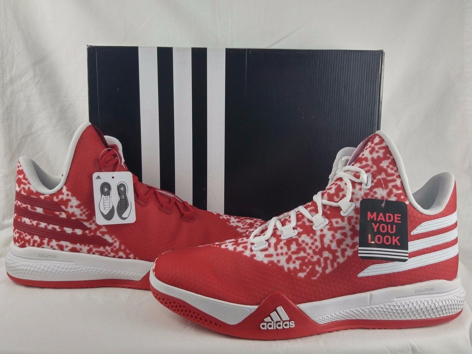 Adidas SM On Court Light Em Up 2 Basketball shoes Men's Size 14.5 17 AQ8053 Red
