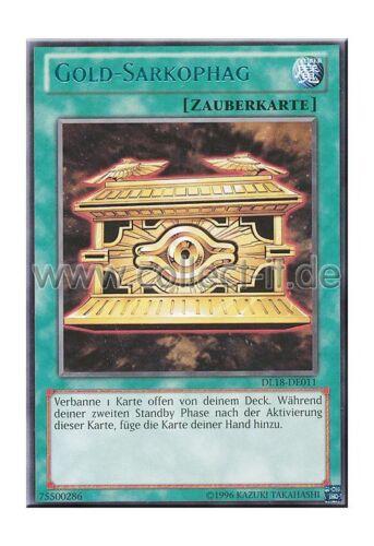 Yugioh DL18-DE011 Gold-Sarkophag Grüne Schrift