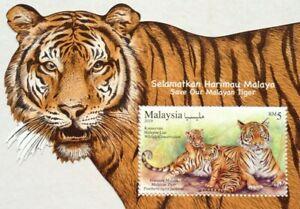 Malaysia-Miniature-Sheet-28-07-2019-Wildlife-Conservation-Malaysan-Tiger