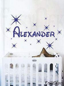 Sterne Wunschname Wandtattoo Kinderzimmer Aufkleber Sticker ...