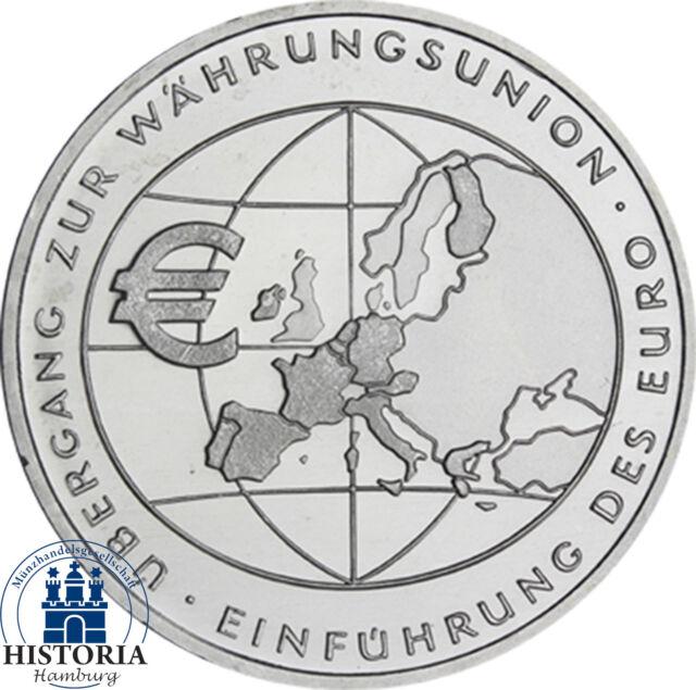 Deutschland 10 Euro Silber 2002 bfr Übergang zur Währungsunion in Münzkapsel