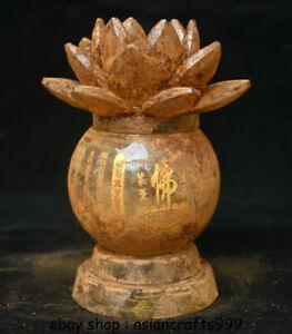 6-034-alte-Tibet-Crystal-Painting-buddhistische-Relikte-Lotus-Herz-Sutra-Tank-Jar