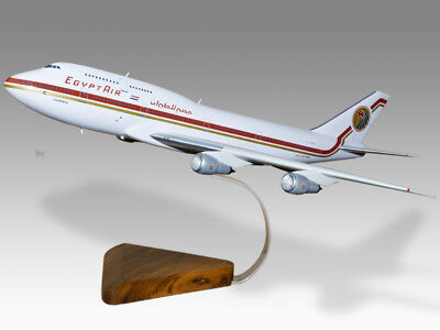 2019 New Style Boeing 747-300 Egypt Air Solid Wood Handcrafted Airplane Desktop Model