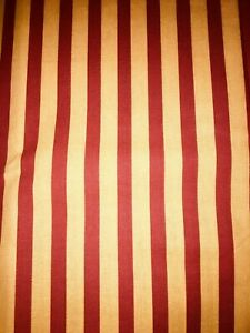 Tissu Coton à Rayures Larg 60 Cm X H 170 Cm, Réf A355
