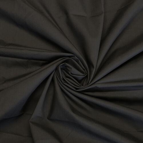 "Plain Black Polycotton Poplin Fabric Dress Craft Bunting 44/"" inch 112cm wide"