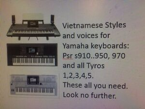 Details about VietnameseYamaha keyboard styles,Voices,MIDI for PSR  s910  950, 970,All Tyross