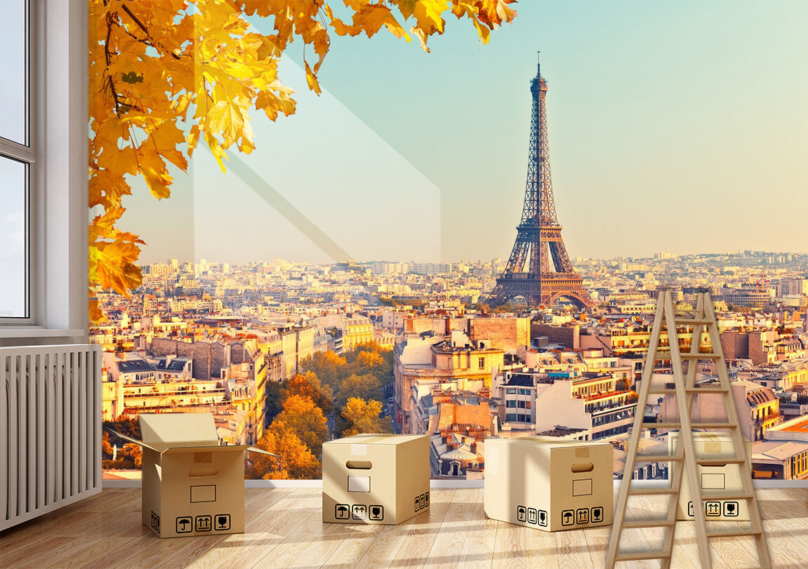 3D Eiffel Tower 55 Wall Paper Print Wall Decal Deco Indoor Wall Murals