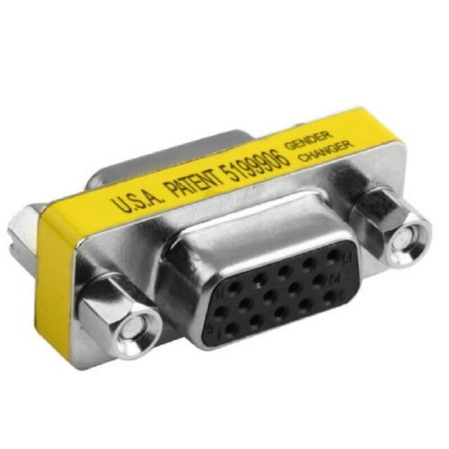 VGA D-Sub 15 Pin 15-Pin Female to Female Gender Changer Adaptor Joiner Coupler