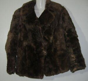 Details zu Alte Damen Pelzjacke Felljacke kurz braun Pelz Gebrauchsspuren Beschädigungen