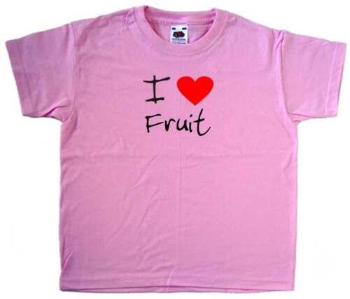 I Love Cuore Rosa Frutti KIDS T-SHIRT