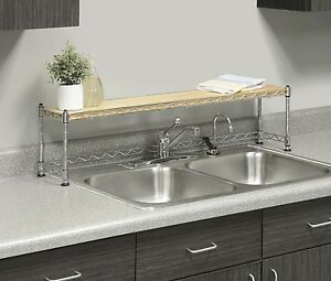 Over Sink Shelf Stand Kitchen Rack Storage Soap Plants Stand
