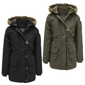 e812fc1d7 GIRLS KIDS JACKET PADDED PUFFER FUR HOODED WARM QUILTED WINTER ...