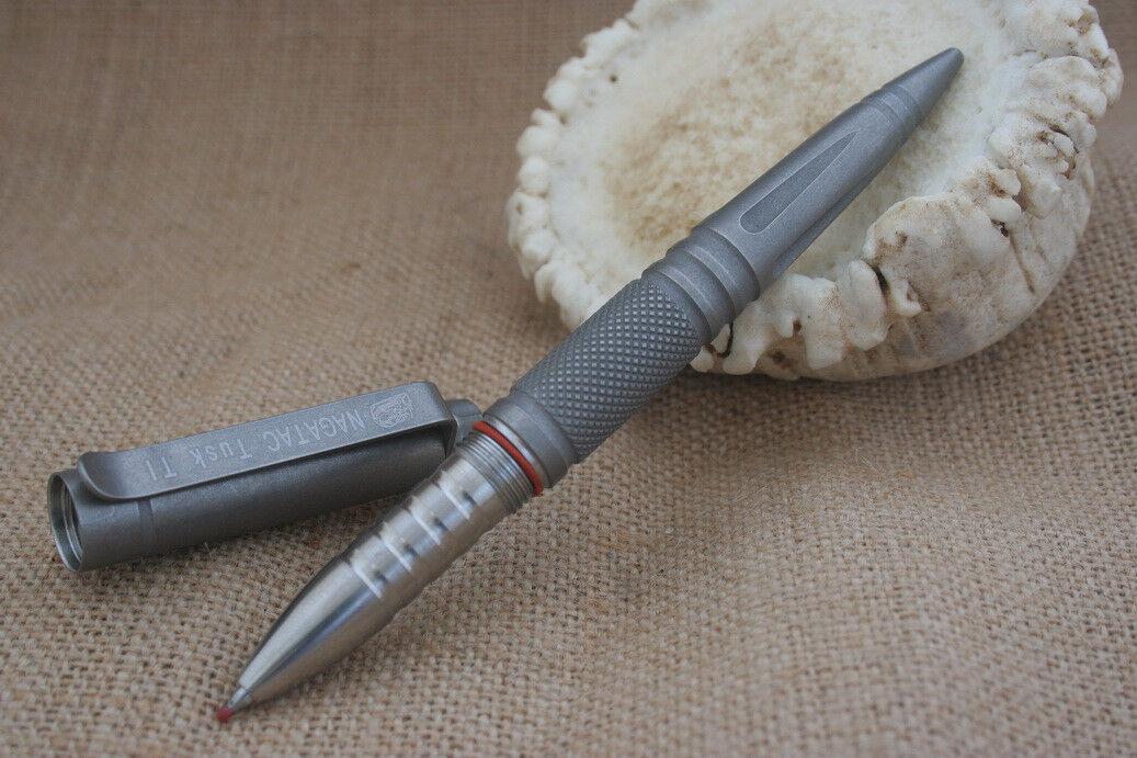 NAGATAC Tusk Ti Tactical Pen GII w/glass breaker Stone Wash Finish