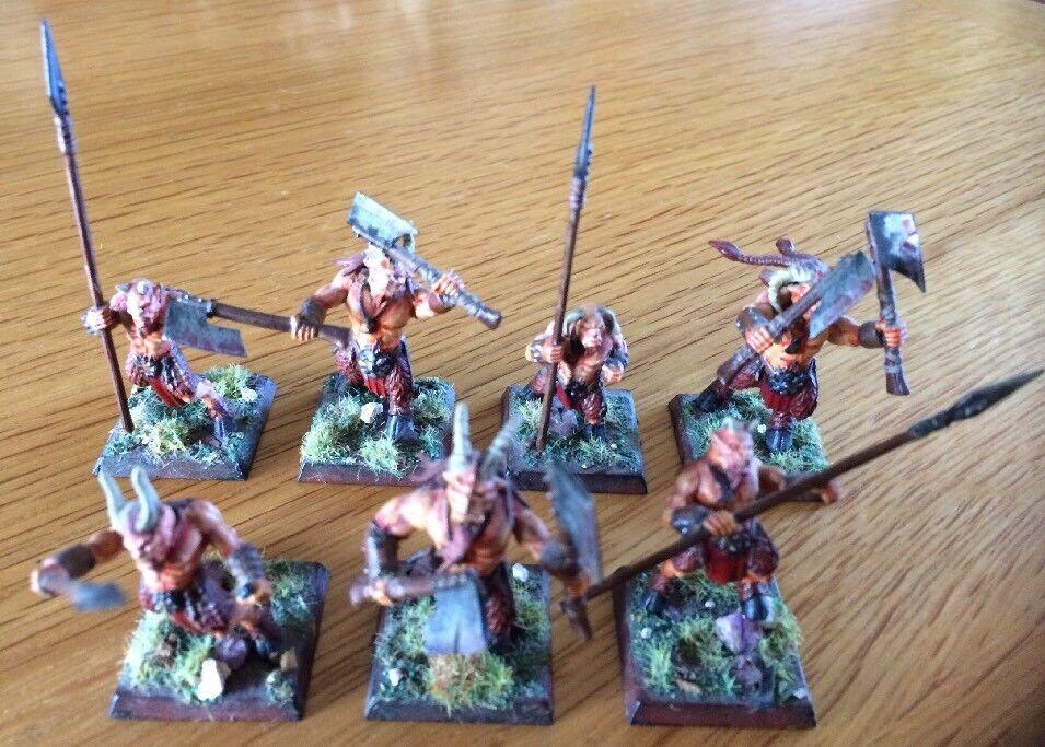 Warhammer GW Miniatures Chaos Beastmen Minotaurs PRO Painted Lot Of 7 OOP RARE