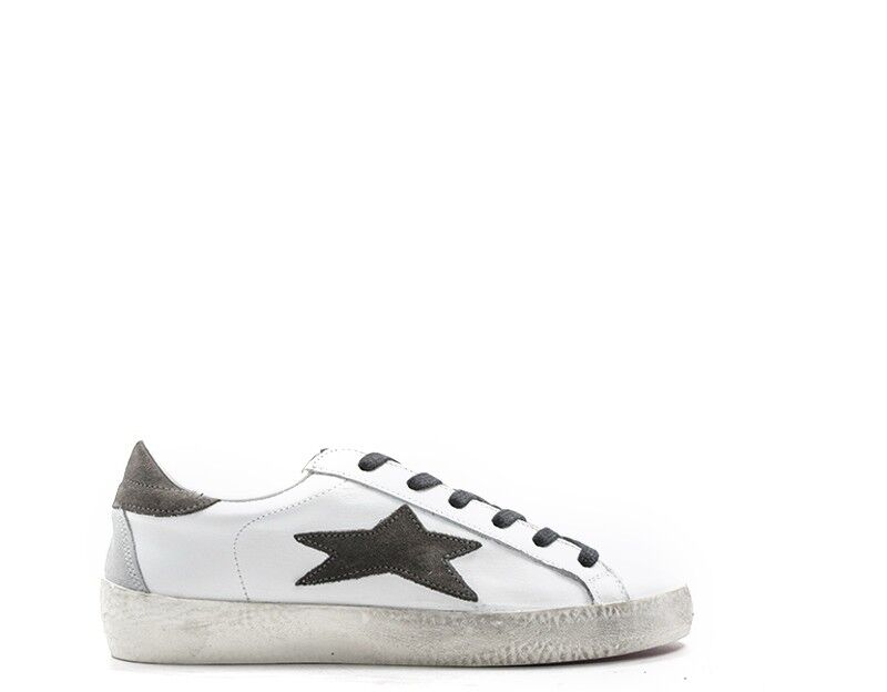 shoes ISHIKAWA Woman Sneakers Trendy WHITE Leather natural 1537BB