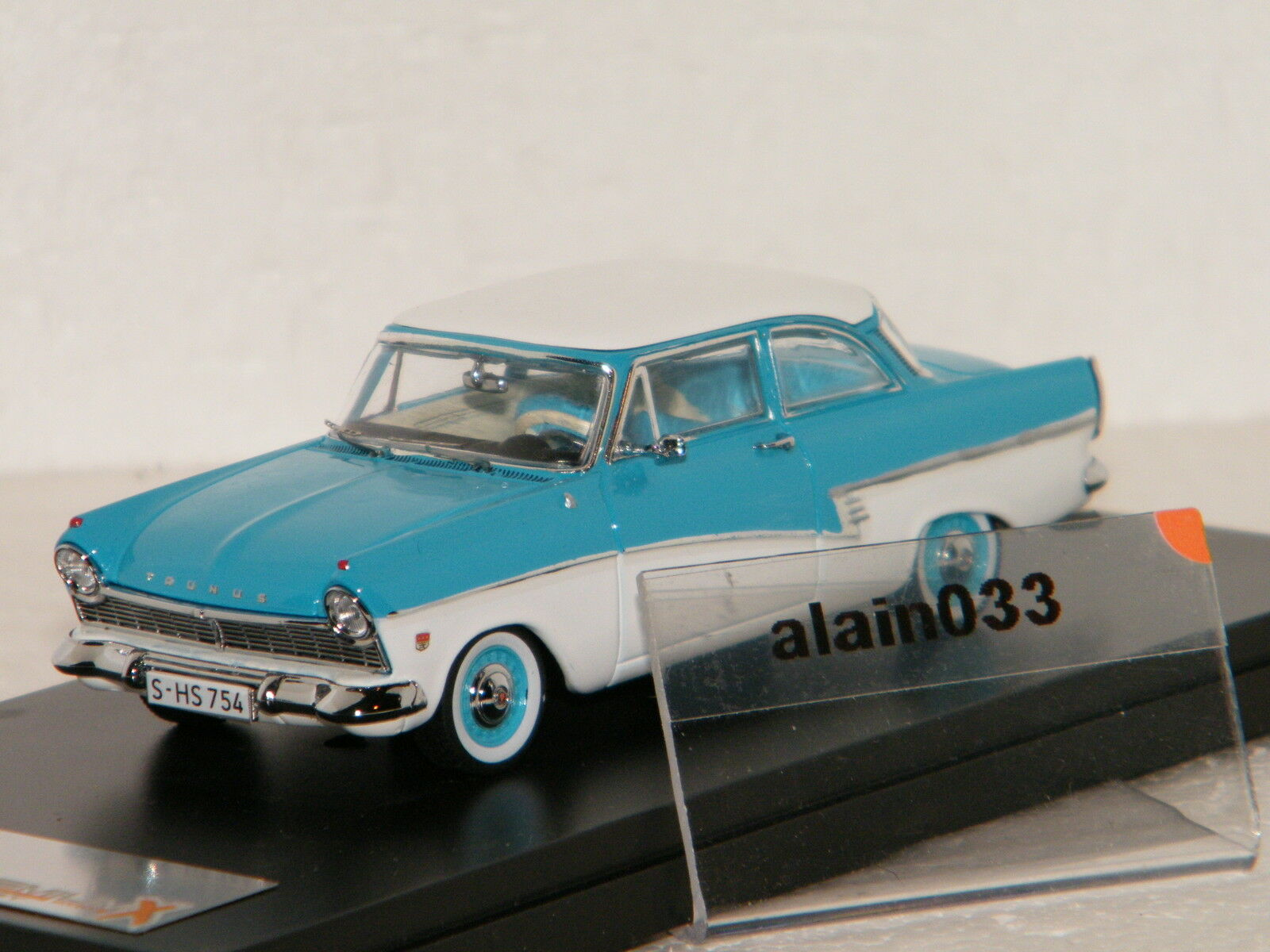 FORD TAUNUS 17M 1957 bleu blanc PremiumX 1 43 Ref PRD388