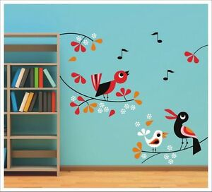 Singing Birds Sa-12-032 Beneficial To The Sperm Honesty Kids Removable Vinyl Wall Stickers Nursery Decor Nursery Décor