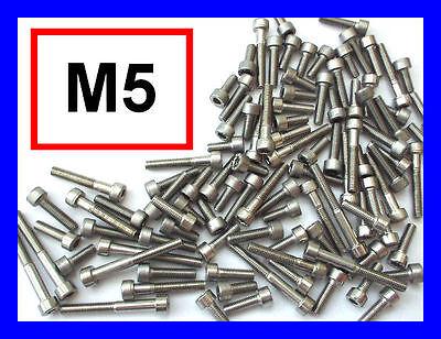 Acero Inoxidable pernos Allen M5 Socket Caps 100 mixto Pack