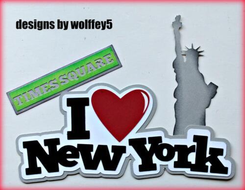 CRAFTECAFE LOVE NY TITLE paper piecing premade scrapbook die cut piece WOLFFEY5