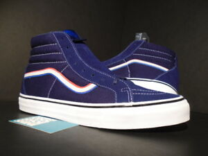 VANS SK8-HI REISSUE LX BLENDS x BORN FREE BLUE RED WHITE USA ... 8b247228e
