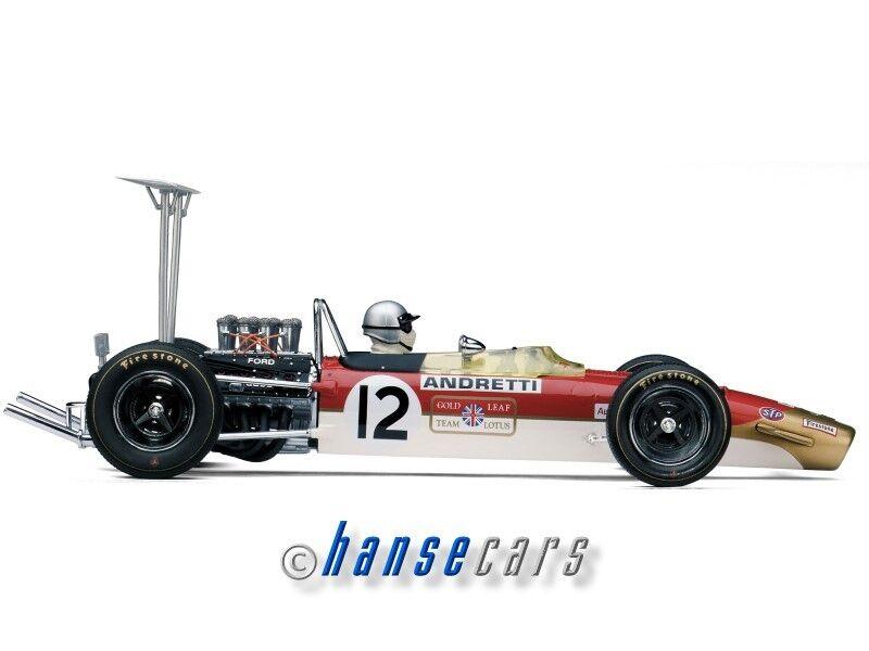 Exoto LOTUS FORD TYPE 49b 1968 Poli, 1968 United States GP Mario Andretti