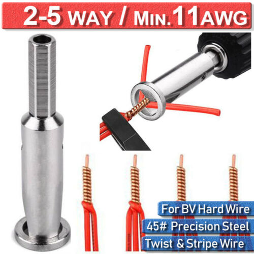 Universal Electrical Cable Quick Wire Twist Connector Drill Bit Stripper Tool