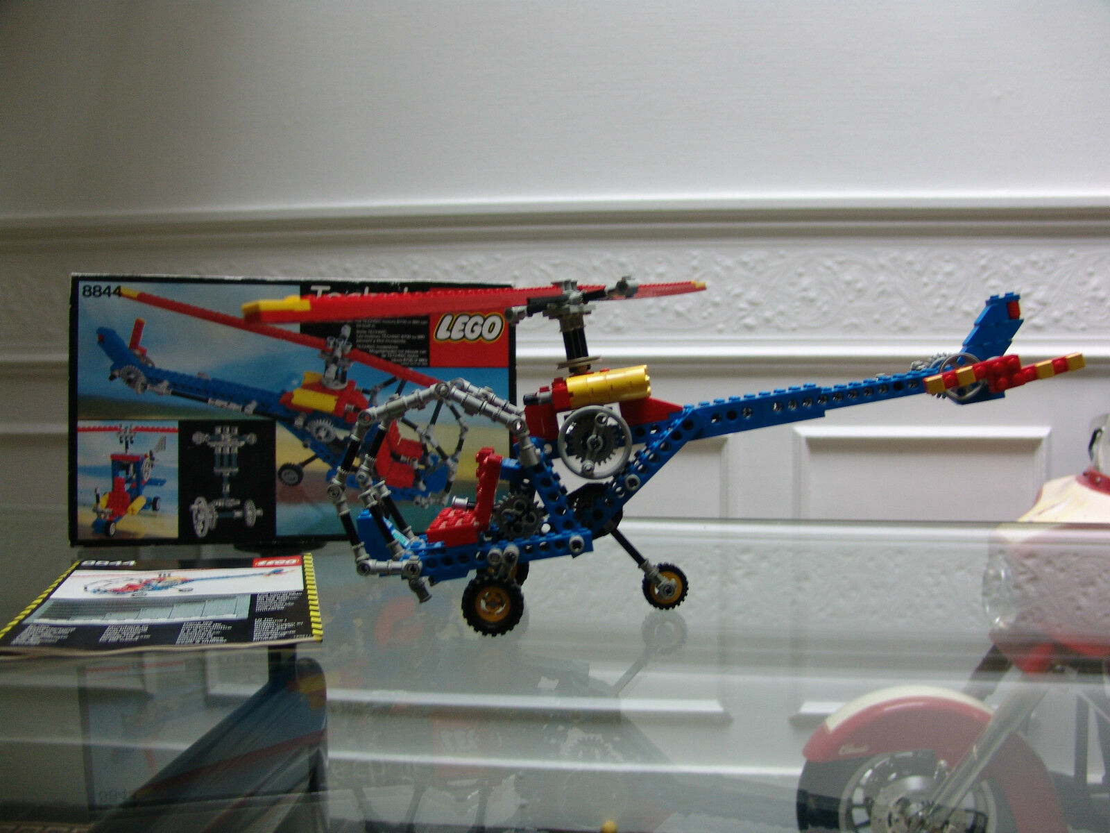 1981 LEGO Technic bluee helicopter with box and instructions