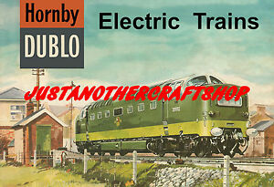 Hornby-Dublo-Deltic-1962-Poster-A3-Size-Shop-Display-Sign-Leaflet-Advert