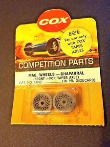 Cox-Mag-Wheels-Chaparral-fronts-for-tapered-axle-1-pair-Cat-14012