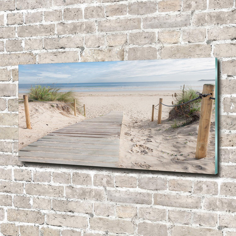 Glas-Bild Wandbilder Druck auf Glas 140x70 Deko Landschaften Strand