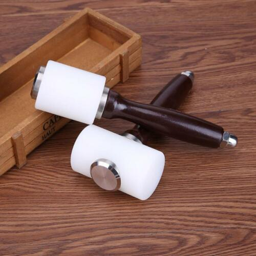 Leather Engraving Hammering Craft Cowhide Punching Wooden Handle Tool 190//215mm