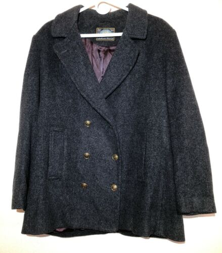Womens Authentic Gray Mackintosh Wool Blend Peacoa