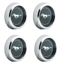 New 1965 1973 Ford Mustang Magnum 500 Wheel Center Caps Chrome 2 18 Size Set Fits Mustang