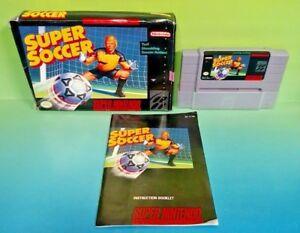 Super-Soccer-SNES-Super-Nintendo-Game-COMPLETE-CIB-Rare-Box-Manual