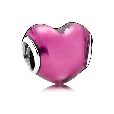Faithful Genuine Pandora Sterling Silver Bead S925 Ale In My Heart Beat Charm 791814en62 Pure White And Translucent Jewellery & Watches