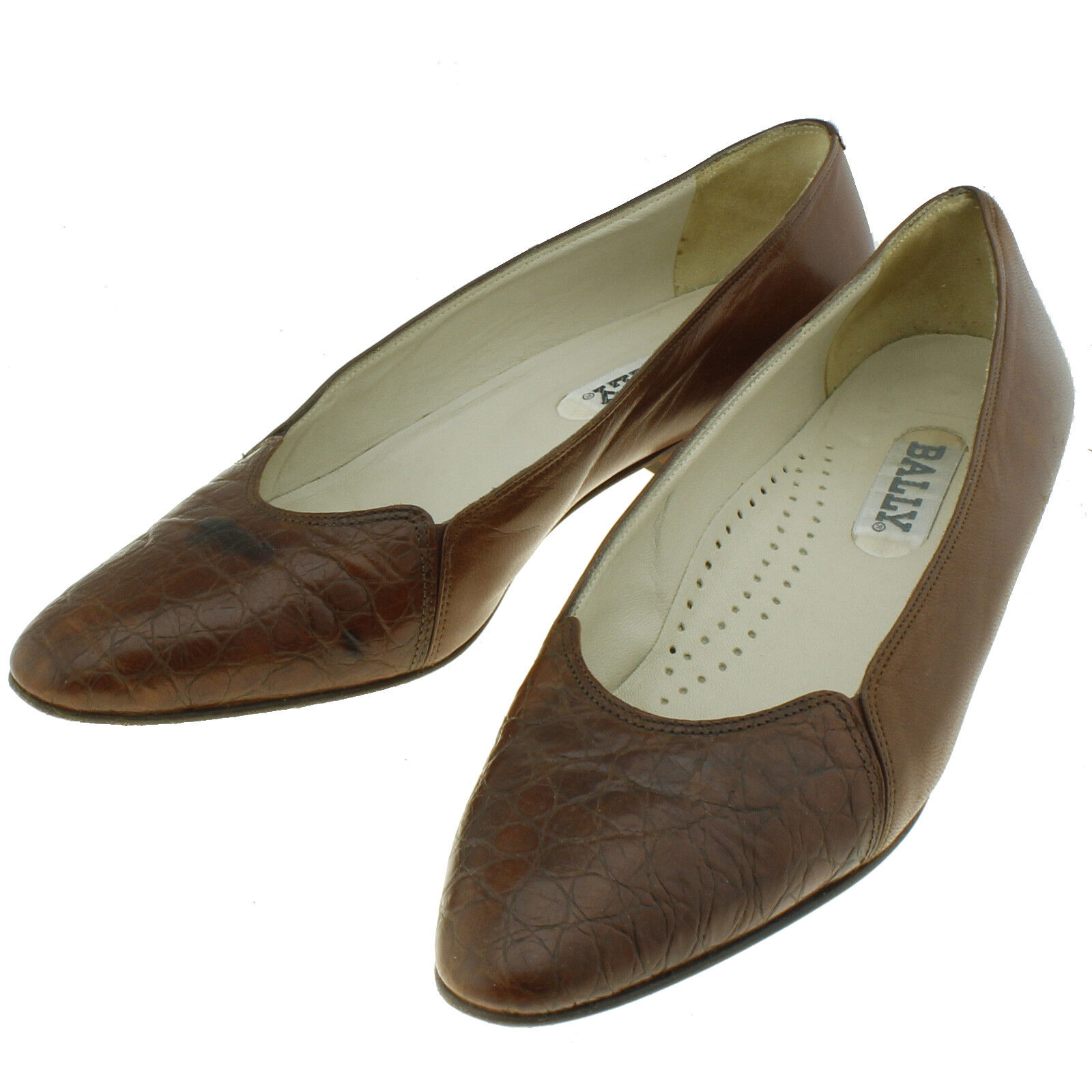 Bally Womens  Amber Brown Nappa Flats Dress Loafers Leather  Size 7N