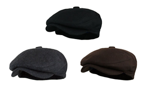 Mens Vintage Style Wool Blend Gatsby Ivy Newsboy Hat